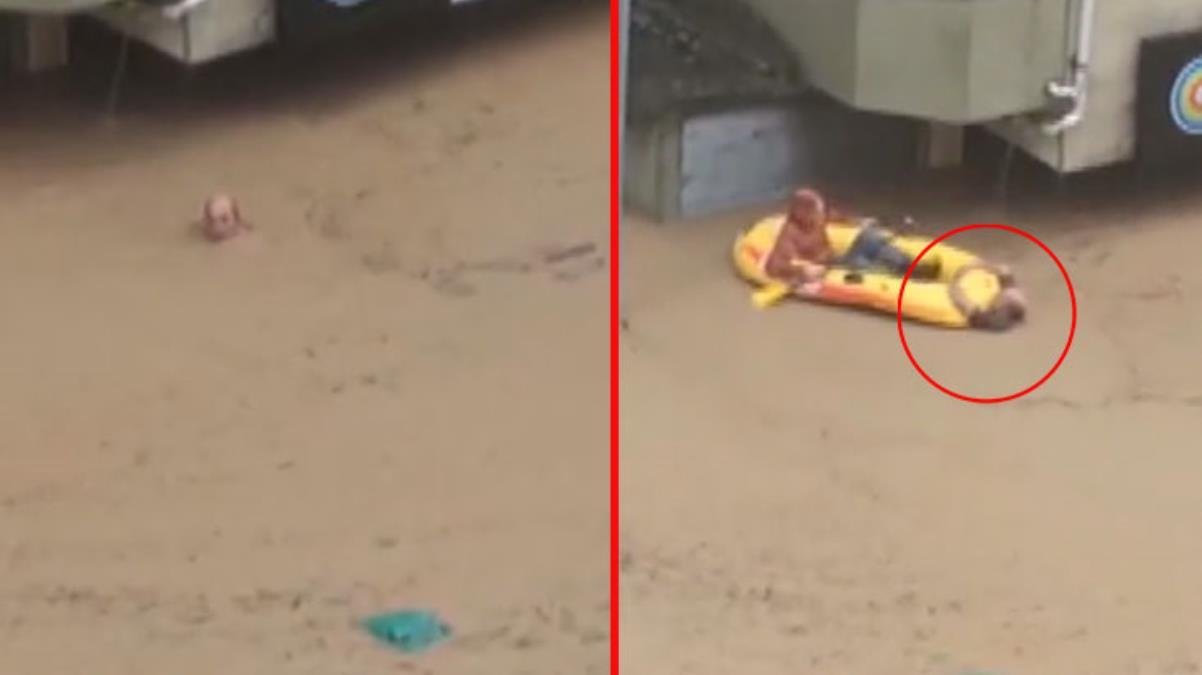 Artvin'deki selde boğulmak üzere olan vatandaş son anda böyle kurtarıldı