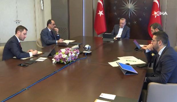 Başkan Erdoğan, MİT Başkanı Fidan ile video konferansta görüştü