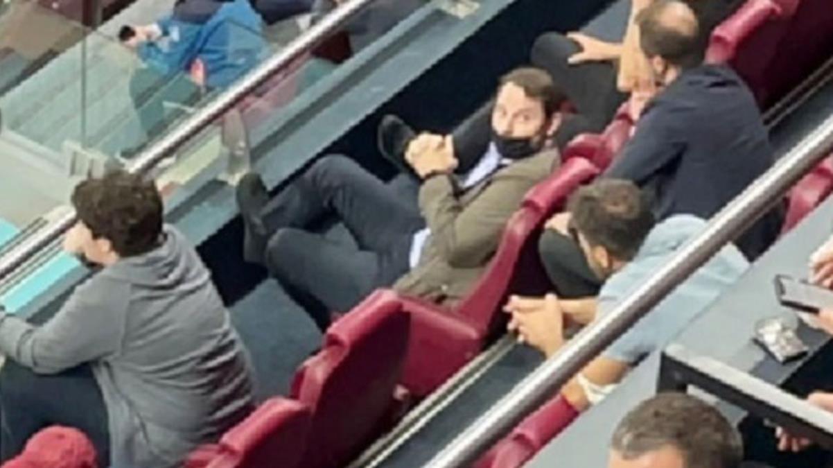 Berat Albayrak, Trabzonspor-Galatasaray maçını locadan izledi