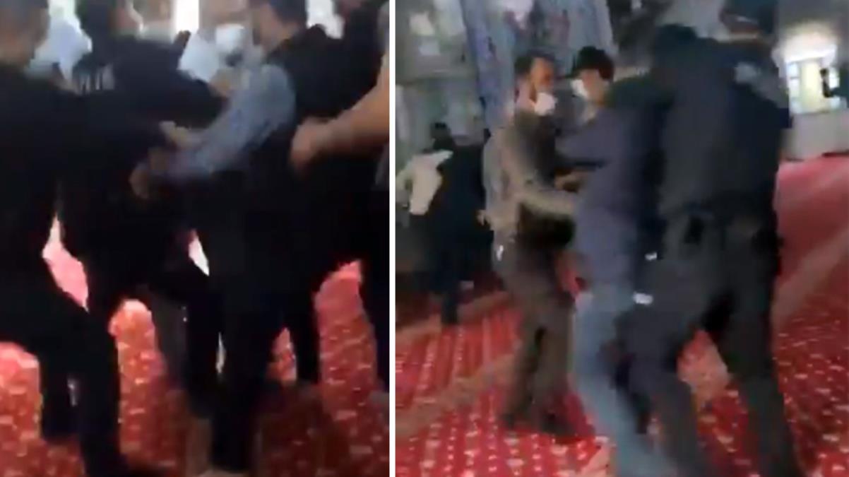 Camide itikaf yapmak isteyen vatandaşlara kolluk kuvvetleri müdahale etti
