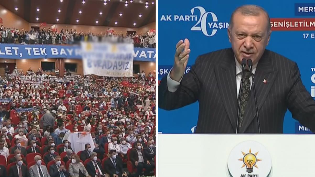 Cumhurbaşkanı Erdoğan, açılan pankartı görünce mest oldu: Z kuşağı da Y kuşağı da burada