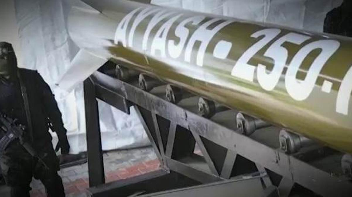 Hamas görüntüleri ilk kez yayınladı! İşte zalim İsrail'i kalbinden vuran Ayyaş roketleri