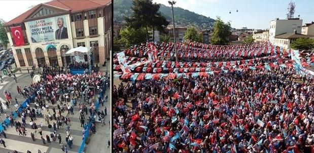 İYİ parti ile AK parti mitingi karşılaştırıldı!