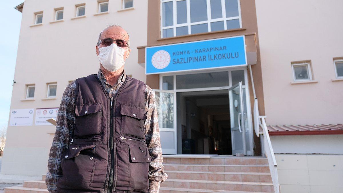 Konya'da hafızasıyla tanınan temizlik görevlisi