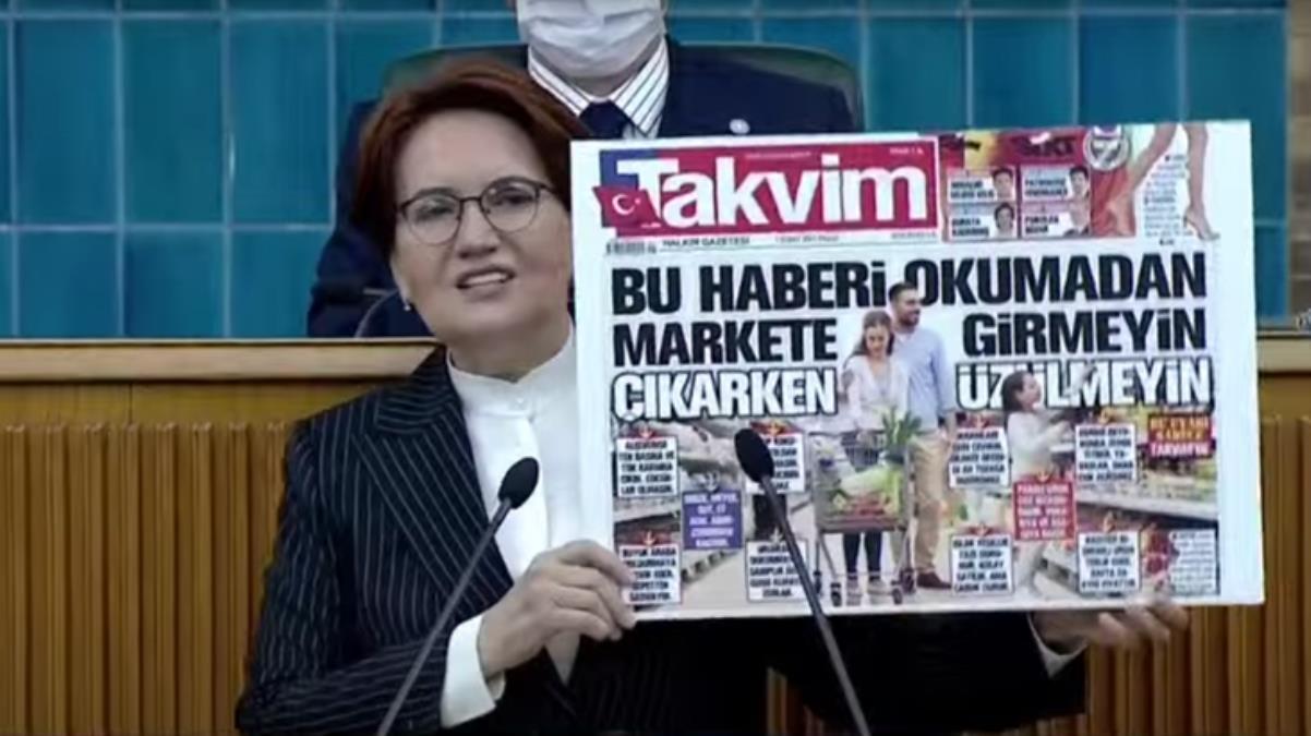 Meral Akşener, Takvim gazetesinin tartışılan manşetini eleştirdi: Hiç mi utanmıyorsunuz?