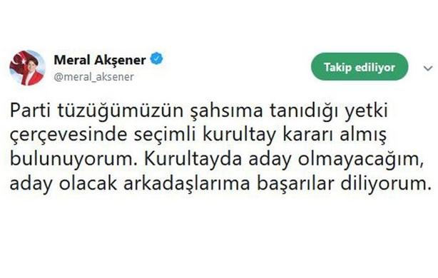 Meral Akşener'in istifa kararının sebebi