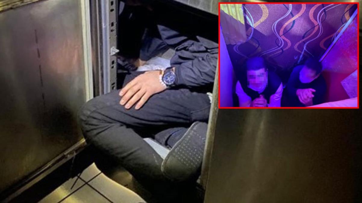 Polis baskınında ilginç görüntüler; kaçacak yer aradılar! Her yerden insan çıktı