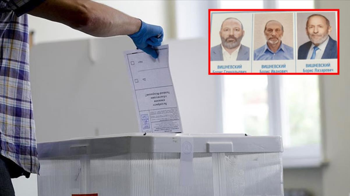 Rusya'daki parlamento seçimlerinde, oy pusulası üzerinde ismi ve görünüşü aynı olan 3 aday seçmenlerin kafasını karıştırdı