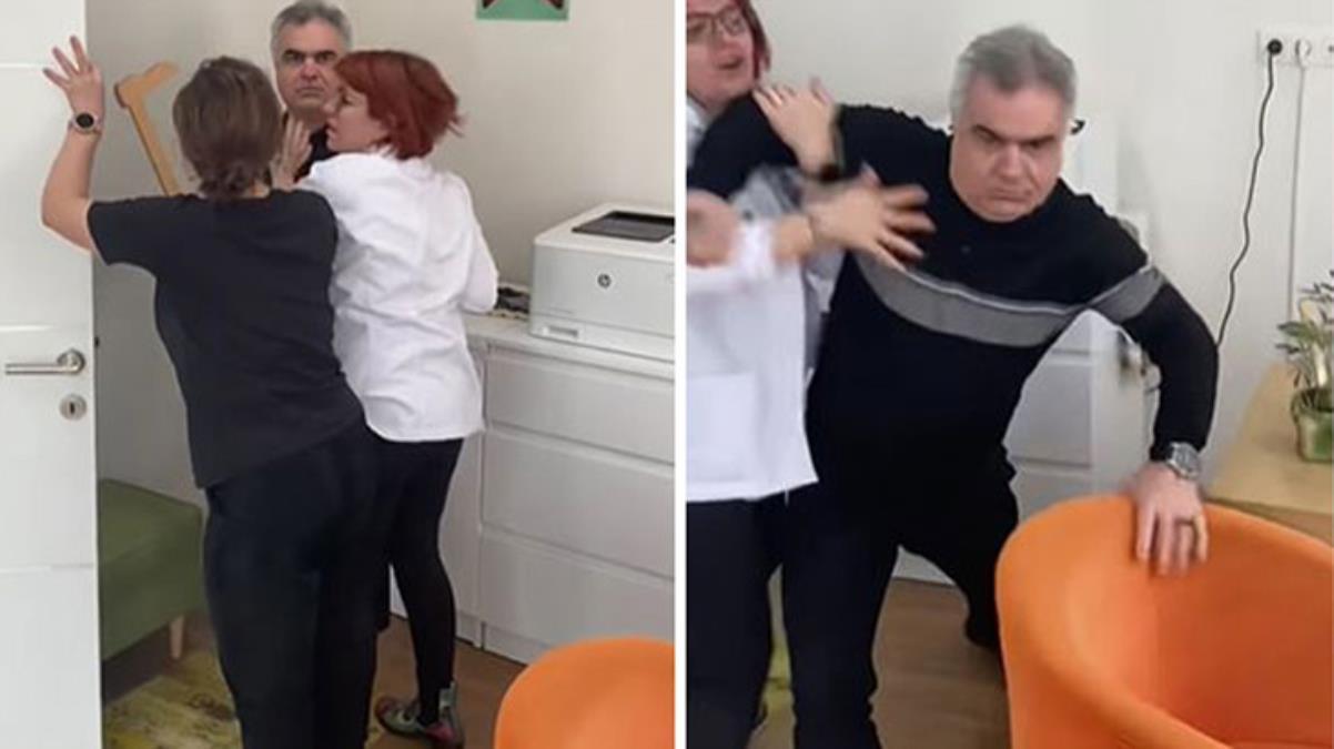 Sinirlerine hakim olamayan doktor, özel muayenehanesine bebeğini getiren babaya saldırdı