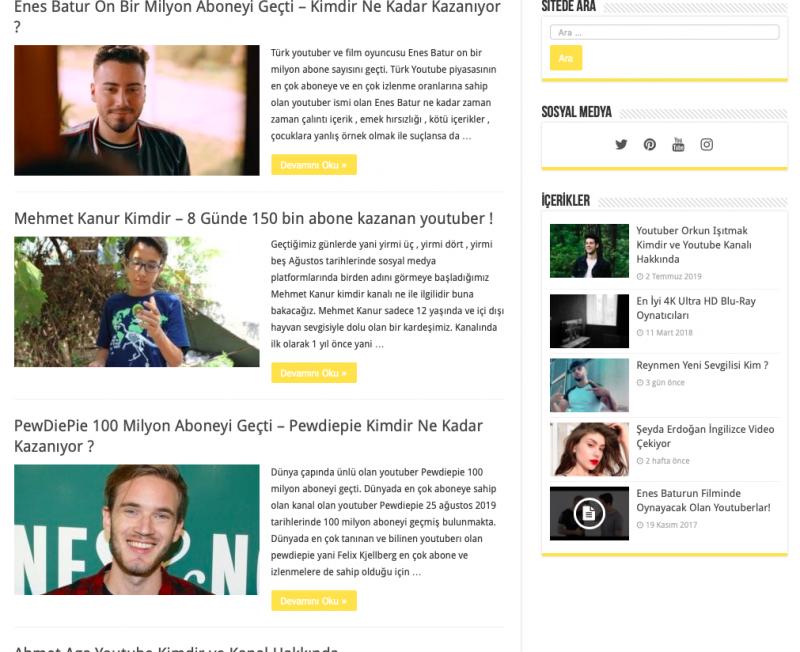 Türkçe Youtuber Haberler - insandedikleri.com