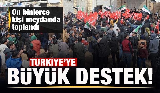Türkiye'ye destek gösterisi