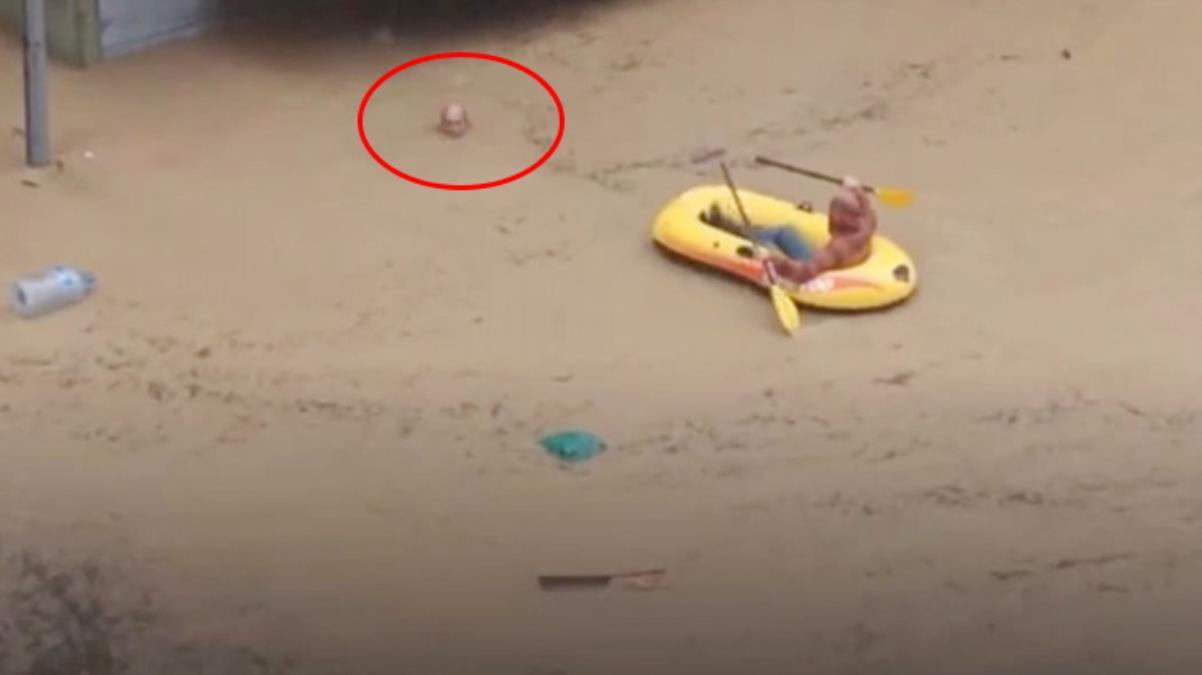 Yer: Artvin! Sele kapılan adamın verdiği mücadele, felaketin boyutunu bir kez daha gözler önüne serdi