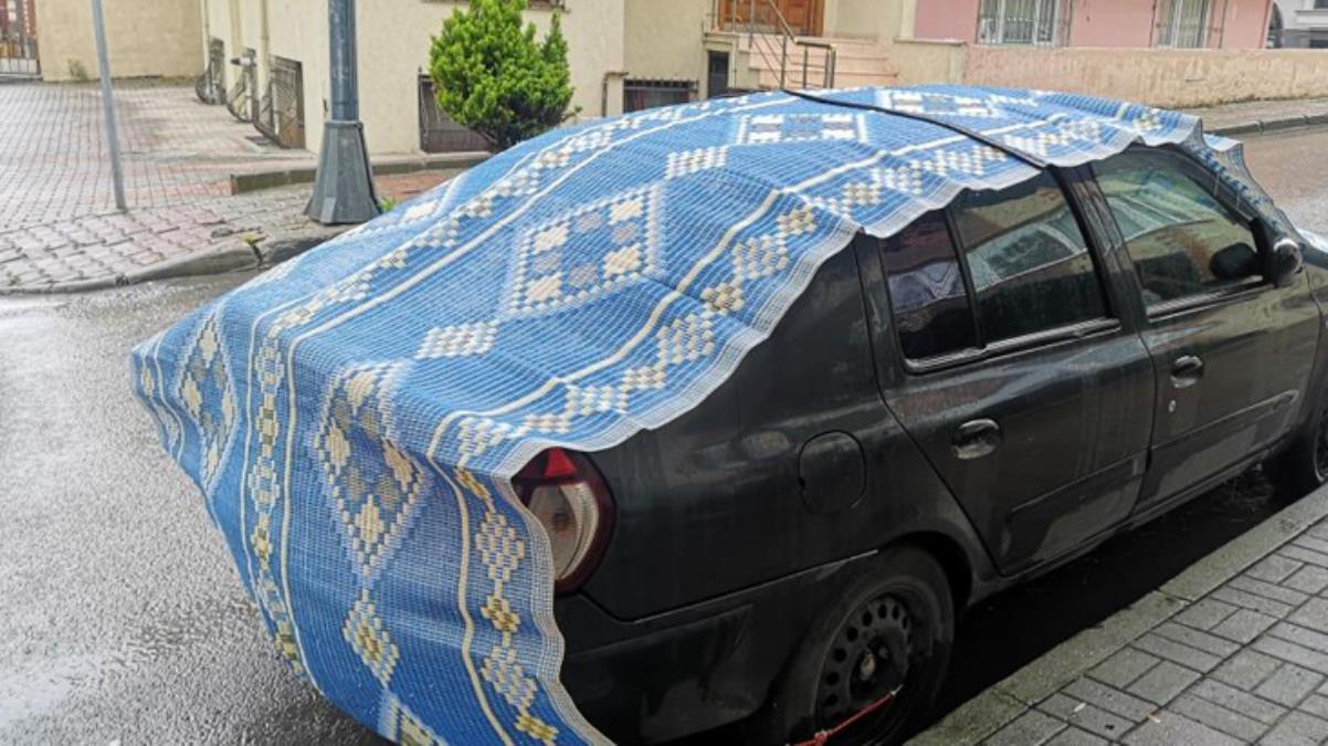 Meteorolojinin uyarısının ardından halı, battaniye ve kartonlu \'dolu\' önlemi
