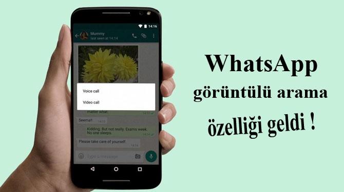 WhatsApp görüntülü arama özelliği geldi!