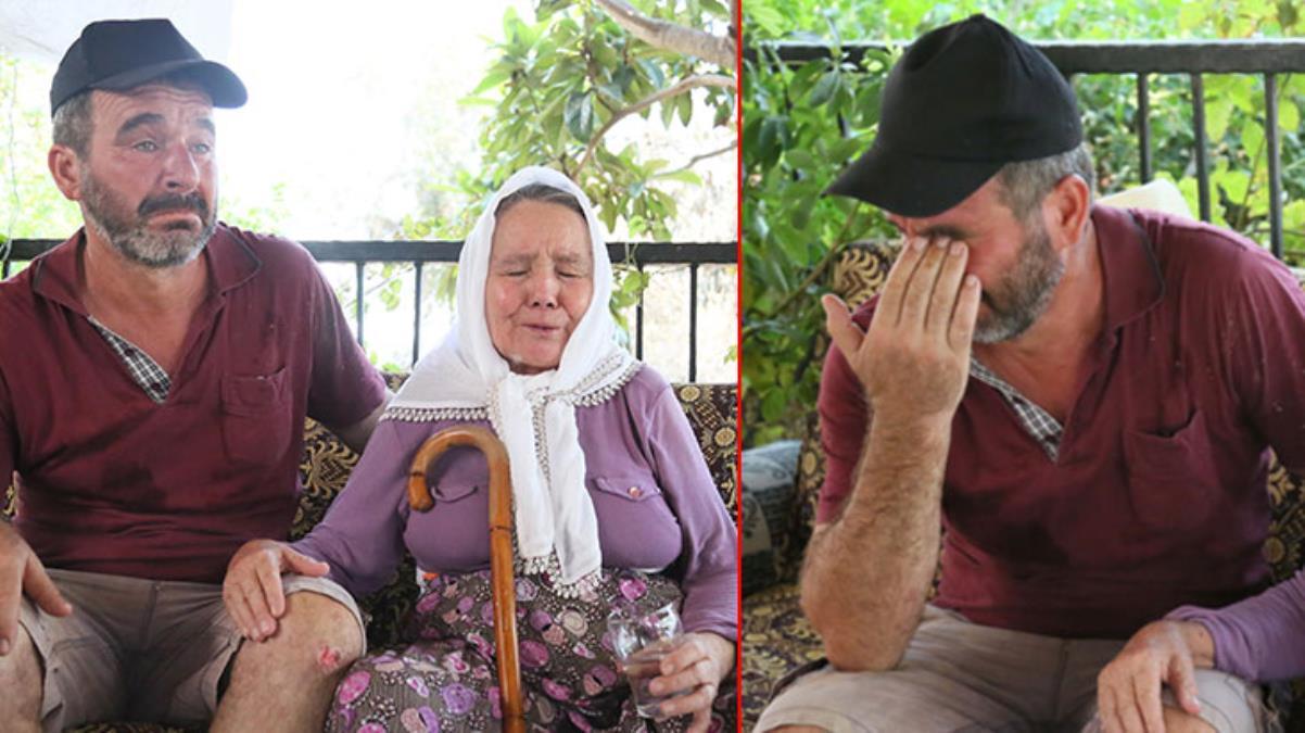 81 yaşındaki kadın alevlerin içinde kaldı! ''Ölürüm ana seni bırakmam'' diyen vefalı evlat, annesi sırtında taşıyıp yangından kurtardı