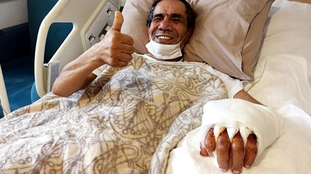 Ağaç keserken kopan eli, 10 saatlik ameliyat sonucu bileğine dikildi