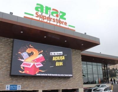 Araz Supermarket Azerbaycan'ın En Fazla Mağaza Zincirine Sahip