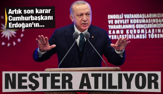 Artık son karar Cumhurbaşkanı Erdoğan'ın! Neşter atılıyor