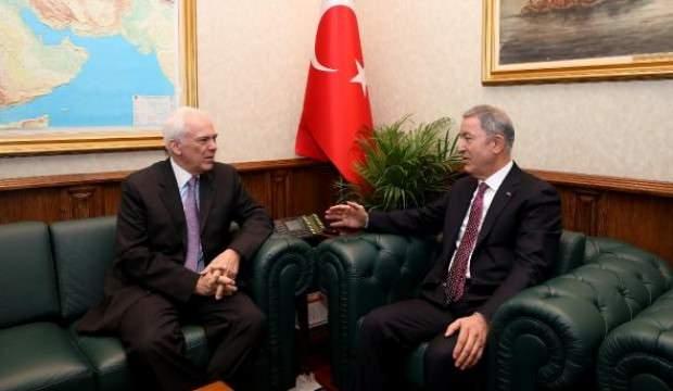 Bakan Akar, Yunanistan'ın Ankara Büyükelçisi'ni kabul etti