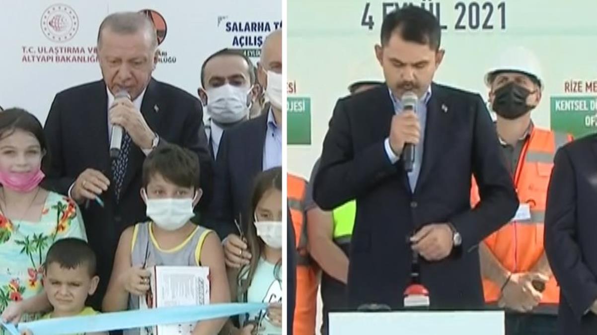 Bakan Murat Kurum açılış için acele edince, Cumhurbaşkanı Erdoğan devreye girdi
