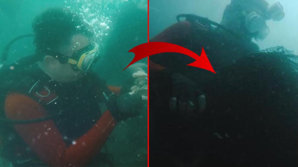 Bakan Pakdemirli 'hayalet ağlara' dikkat çekmek için Marmara Denizi'nde özel dalış gerçekleştirdi