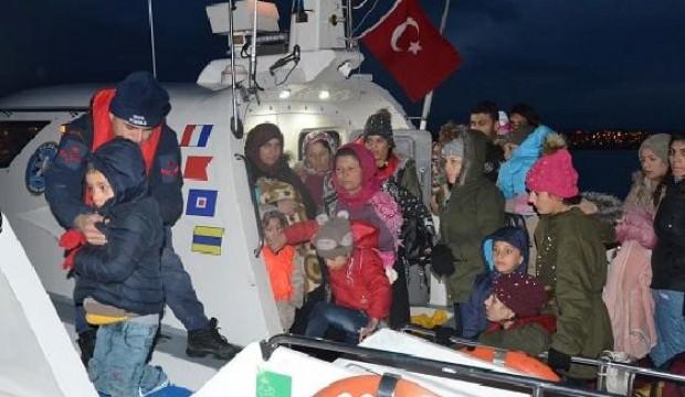 Balıkesir'de 108 kaçak göçmen yakalandı
