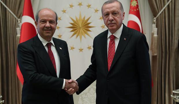Başkan Erdoğan, KKTC Başbakanı Ersin Tatar ile görüştü