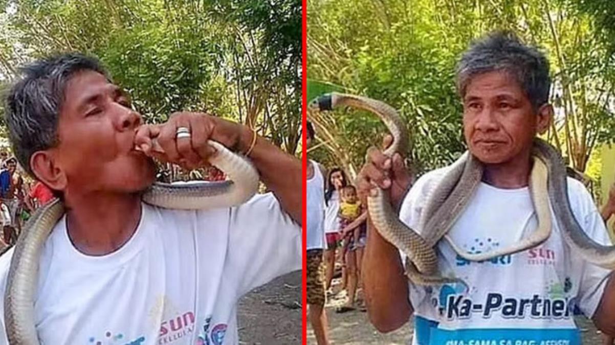 'Ben yılanların efendisiyim' diyen adam, yılanın dudağını ısırması sonucu kanı katılaşarak öldü