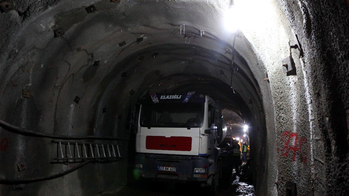 Bolu'daki su tünelinin iç kaplaması tamamlandı