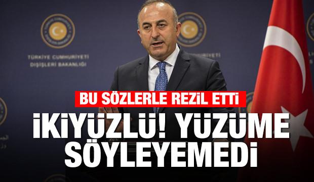 Çavuşoğlu'ndan, AP Başkanı'na, 'İkiyüzlü, yüzüme karşı söyleyemedi'