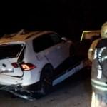 Cip ile otomobil çarpıştı 3 kişi yaralandı