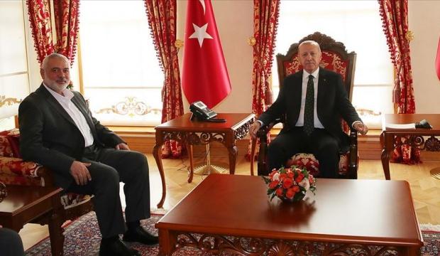 Cumhurbaşkanı Erdoğan, İsmail Heniyye'yi kabul etti