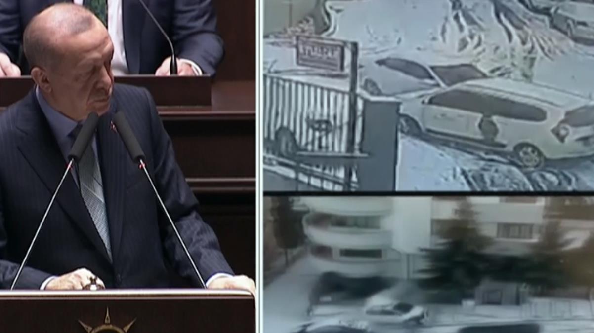 Cumhurbaşkanı Erdoğan, parti grubunda kar yağışı sonrası yaşanan olumsuzlukların videosunu izletti