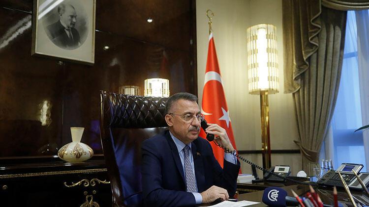 Cumhurbaşkanı Yardımcısı Oktay, Azerbaycan Cumhurbaşkanı Yardımcısı Hacıyev ve Başbakan Esedov ile telefonla görüştü