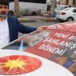 DSP eski genel başkan adayı Özavcı, Kanal İstanbul'a destek için aracını giydirdi