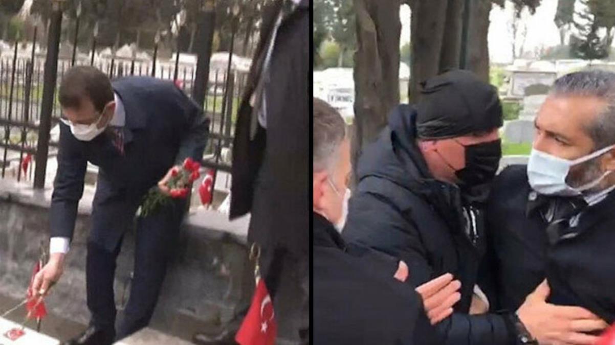 Edirnekapı Şehitliği'nde İmamoğlu'na tepki gösteren gazi yakını konuştu: Samimiyetsizliği gördüğüm için yaptım