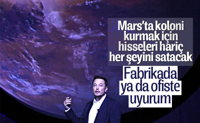Elon Musk, Mars kolonisi için tüm mülklerini satacak