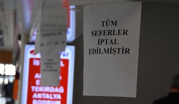 Eskişehir'de tüm seferler iptal edildi