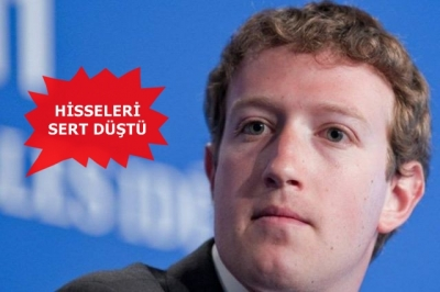 Facebook hisseleri sert düştü