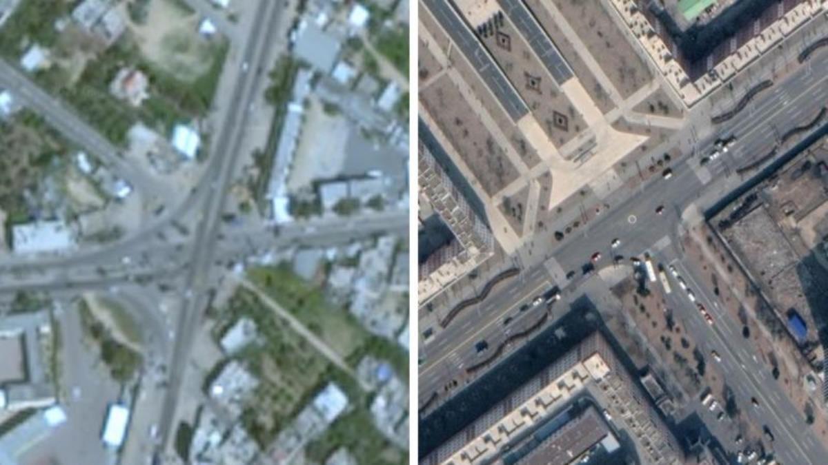 Gazze'nin Google haritalarındaki uydu görüntülerinin bulanık olması araştırmacıları rahatsız etti