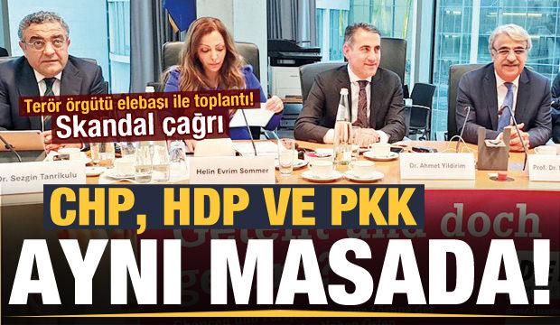Göz göre göre yaptılar! CHP, HDP ve PKK Berlin'de buluştu