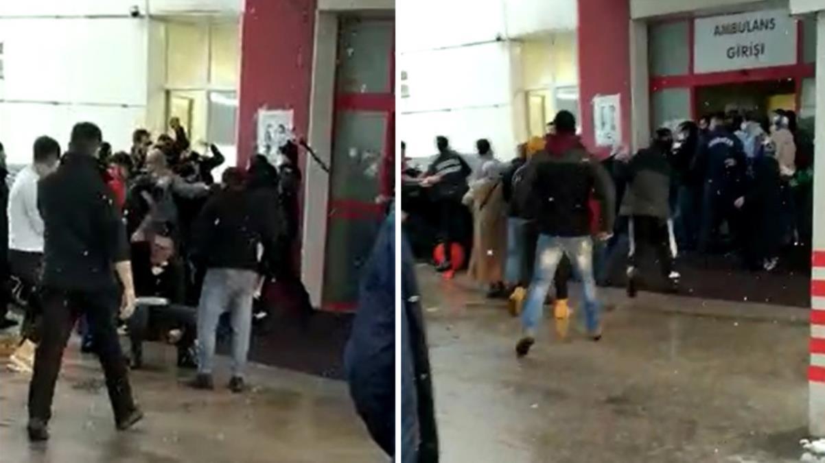Hasta yakınları güvenlik görevlilerine saldırdı, hastane bahçesi savaş alanına döndü