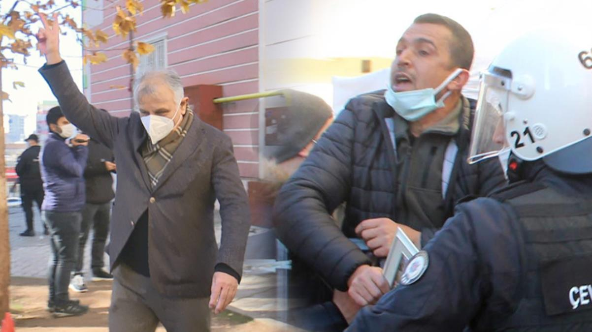 HDP'li milletvekili evlat nöbetindeki ailelere zafer işareti yapınca ortalık karıştı