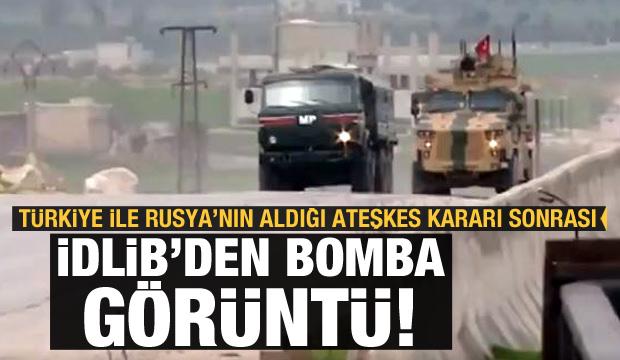 İdlib'den ilk görüntü: Türk ve Rus birlikleri beraber...