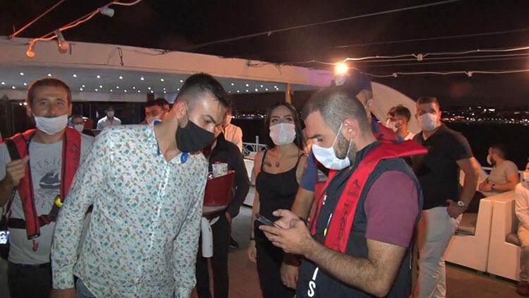 İstanbul Boğazı'ndaki teknelerde denetim; kuralı ihlal eden yata cezası kesildi