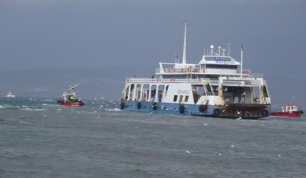 Karaya oturan feribot 5,5 saat sonra kurtarıldı