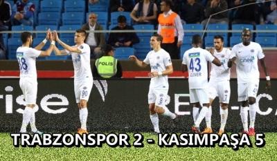 Kasımpaşa'dan Trabzonspor'a Tarihi Fark: 5-2