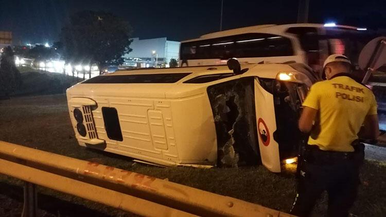 Kocaeli'de minibüs kazası: 6 yaralı