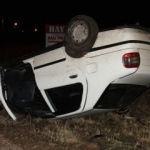 Korkutan kaza... Takla atan otomobil ters devrildi