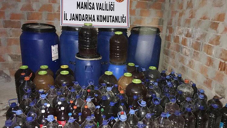 Manisa'da çok miktarda sahte içki ele geçirildi